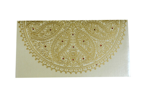 Paisley Theme Designer Wedding Card GC 2020