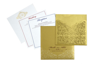 Designer Laser Cut Wedding Card Design GC 2021