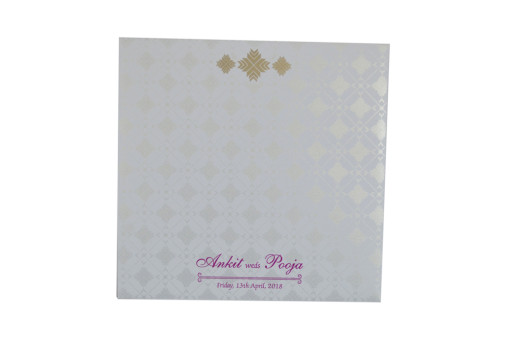 Yellow Designer Wedding Card GC 2022