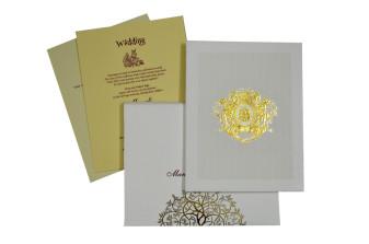 Ganesh Laser Cut Padded Wedding Card GC 2051