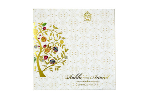 Tree of Life Theme Designer Wedding Card GC 2052