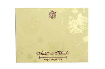 Floral Wedding Card Design GC 2055