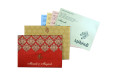 Red Satin Cloth Wedding Card GC 2071