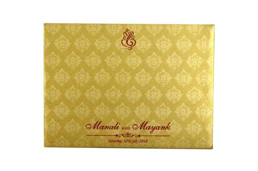 Red Satin Cloth Wedding Card GC 2071