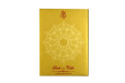 Red Satin Cloth Hindu Wedding Card GC 2074