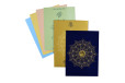 Blue Satin Cloth Hindu Wedding Card GC 2075