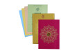 Pink Satin Cloth Hindu Wedding Card GC 2076