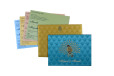 Satin Cloth Peacock Theme Wedding Card Design GC 2079
