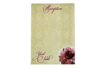 Floral Theme Pink Engagement Wedding Card GC 2098
