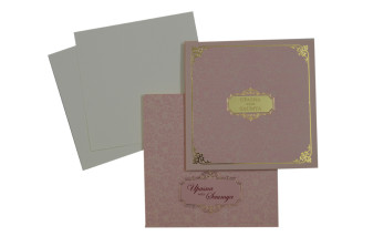 Designer Padded Wedding Card LM 108 Pink
