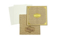Designer Padded Wedding Card LM 109 Biscuit