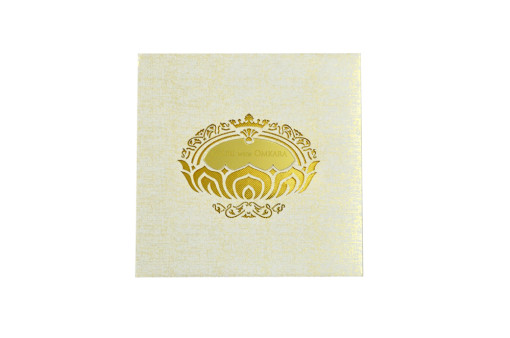 Laser Cut Wedding Card LM 114 Ivory