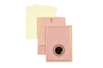 Small Size Padded Wedding Card LM 129 Pink