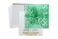 Designer Laser Cut Wedding Card LM 131 Green