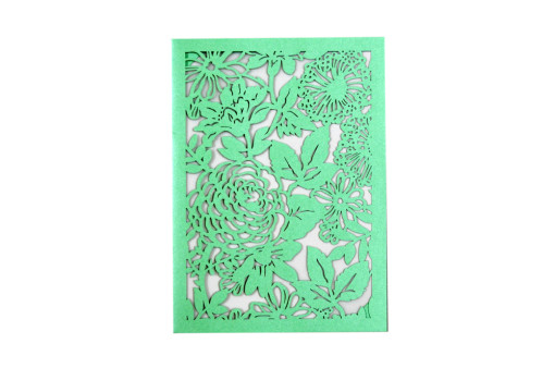 Designer Laser Cut Wedding Card LM 132 Green