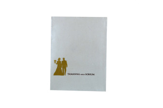 Designer Laser Cut Wedding Card LM 132 White