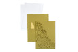 Designer Laser Cut Wedding Card LM 135 Gold