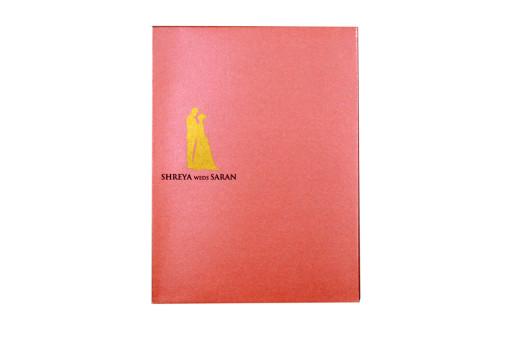 Designer Laser Cut Wedding Card LM 135 Pink