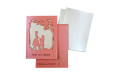 Couple Theme Laser Cut Wedding Card LM 136 Pink