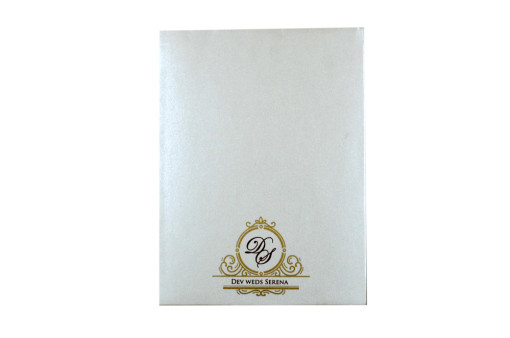 Door Style Laser Cut Wedding Card LM 138 White
