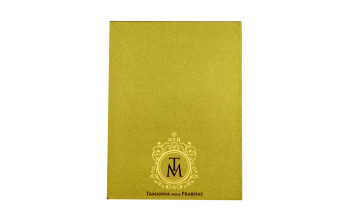 Door Style Laser Cut Wedding Card LM 139 Gold