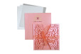 Door Style Laser Cut Wedding Card LM 140 Green