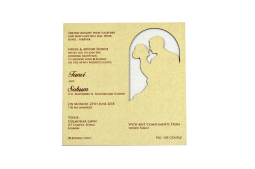 Couple Theme Lasercut Invitation LM 145 Couple