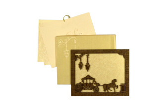 Photo Frame Style Reusable Wedding Card LM 162 Charriot