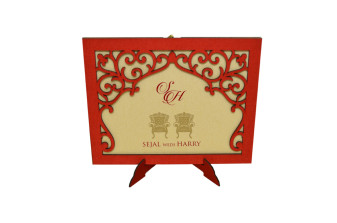 Photo Frame Style Reusable Wedding Card LM 164 Charriot