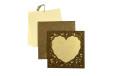 Photo Frame Style Reusable Satin Cloth Wedding Card LM 166 Heart