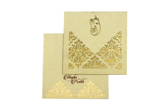 Hindu Laser Cut Invitation LM 176 Grey