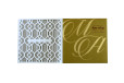 Laser Cut Designer Wedding Card LM 46 White