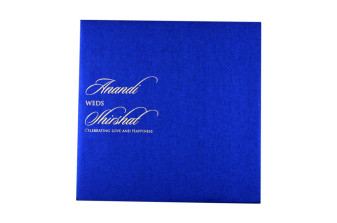 Laser Cut Anniversary Invitation LM 5 Blue