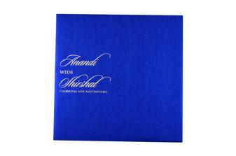 Laser Cut Anniversary Invitation LM 5 Blue
