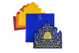 Designer Laser Cut Wedding Card LM 61 Blue