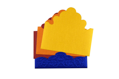 LM 61 Designer Laser Cut Wedding Card LM 61 BlueLUE b