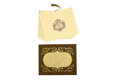 Photo Frame Style Reusable Wedding Card LM 72 Copper