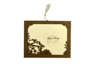 Photo Frame Style Reusable Wedding Card LM 82 Bird