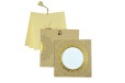 Circular Cut Budget Wedding Card LM 91 Biscuit