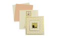 Padded Wedding Card Design LM 97 Cream