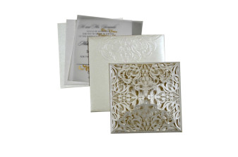 Budget Lasercut Wedding Card Design PR 101