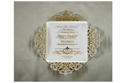 Budget Lasercut Wedding Card Design PR 101