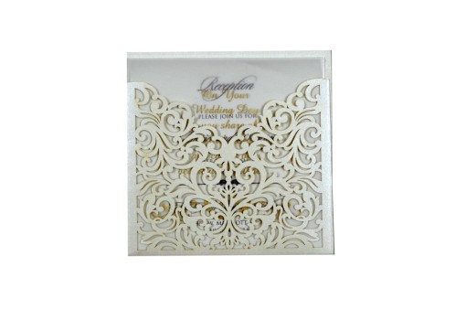 Budget Lasercut Wedding Card Design PR 104