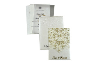 Budget Lasercut Wedding Card Design PR 105