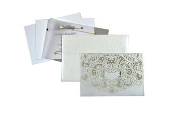 Budget Lasercut Wedding Card Design PR 107