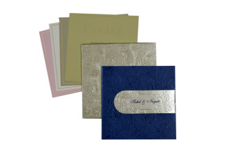 Blue and Silver Wedding Card PR 432