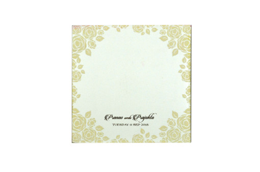Ivory Floral Wedding Card PR 445