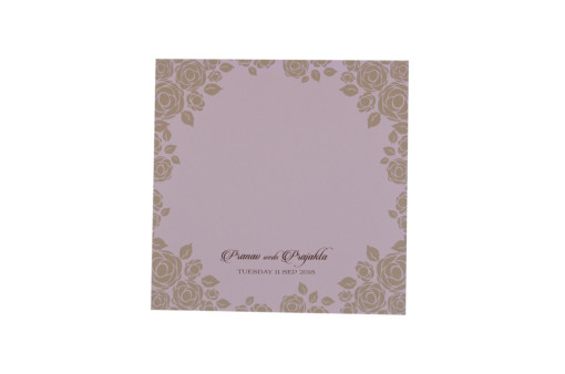 Baby Pink Floral Wedding Card PR 446