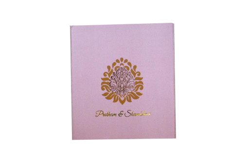 Light Purple Lasercut Wedding Card PR 452