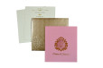 Baby Pink Lasercut Wedding Card PR 453